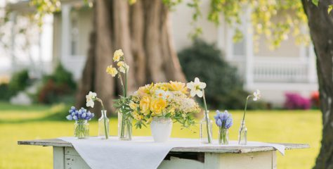 How to make a simple spring centerpiece with seasonal blooms