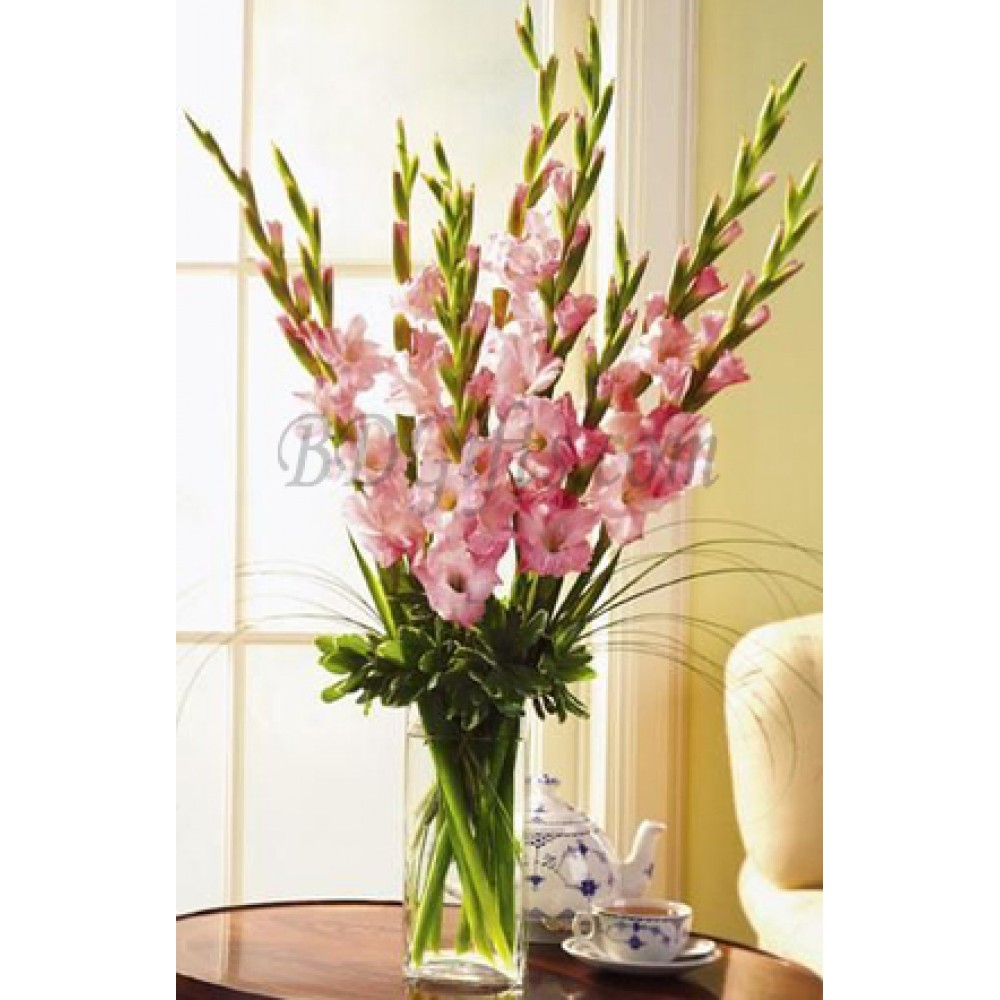 225 & Artificial Flowers In Vase With Lights \u0026 225