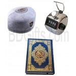 Quran with tasbhi and tupi
