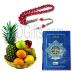 Fruits with tasbhi and quran