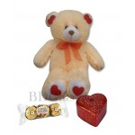 Bear with chocolate and candle